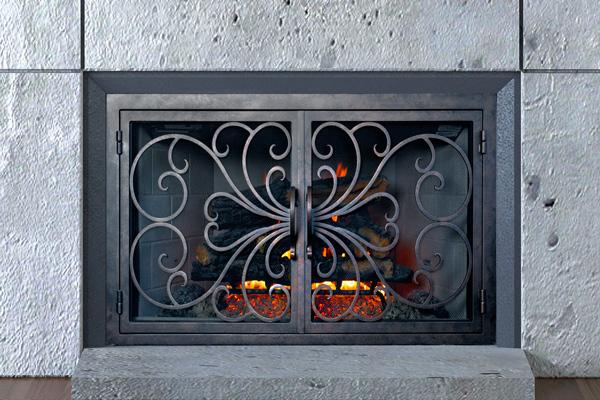 classic fireplace door