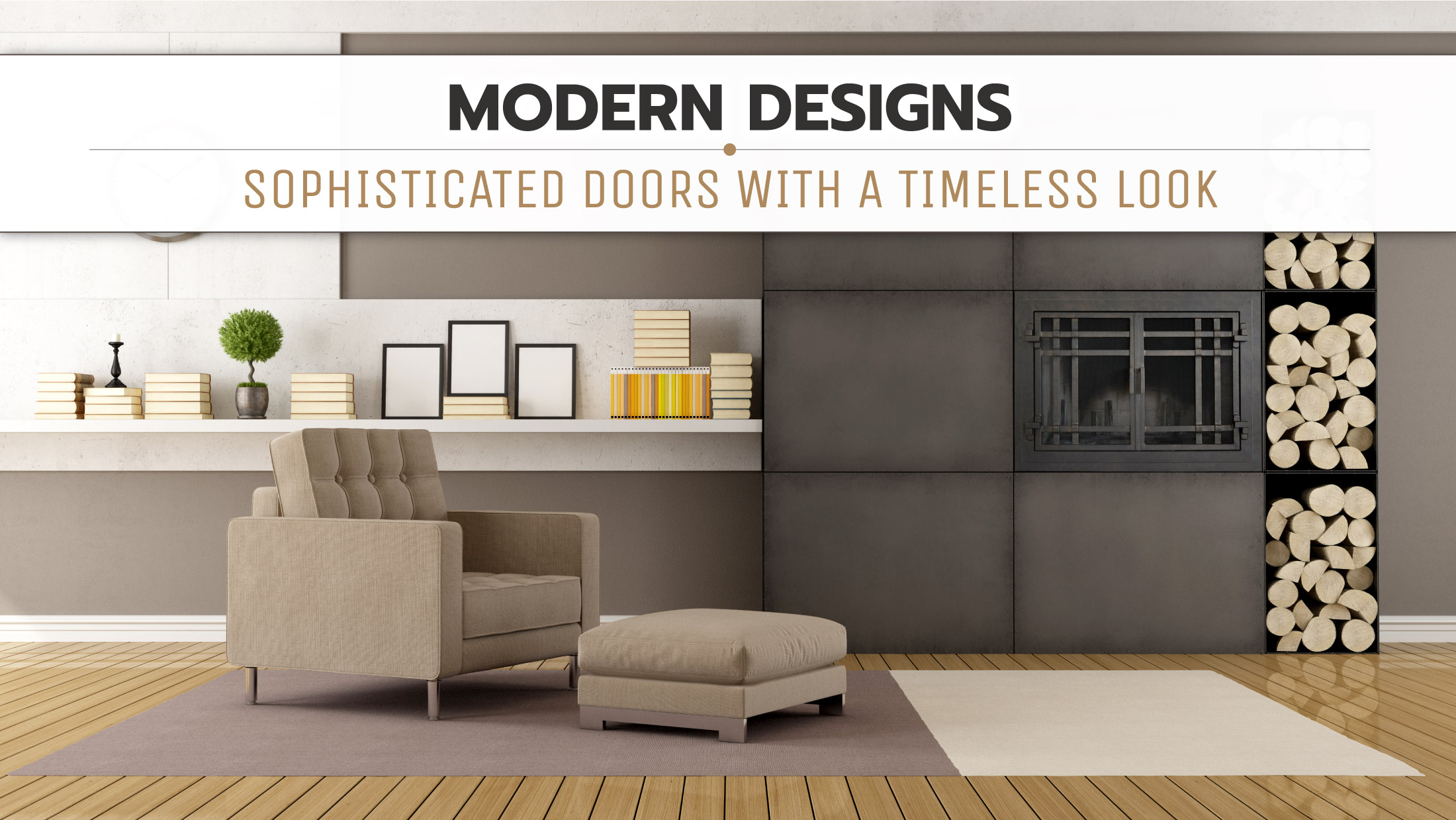 Mission Modern Fireplace Door
