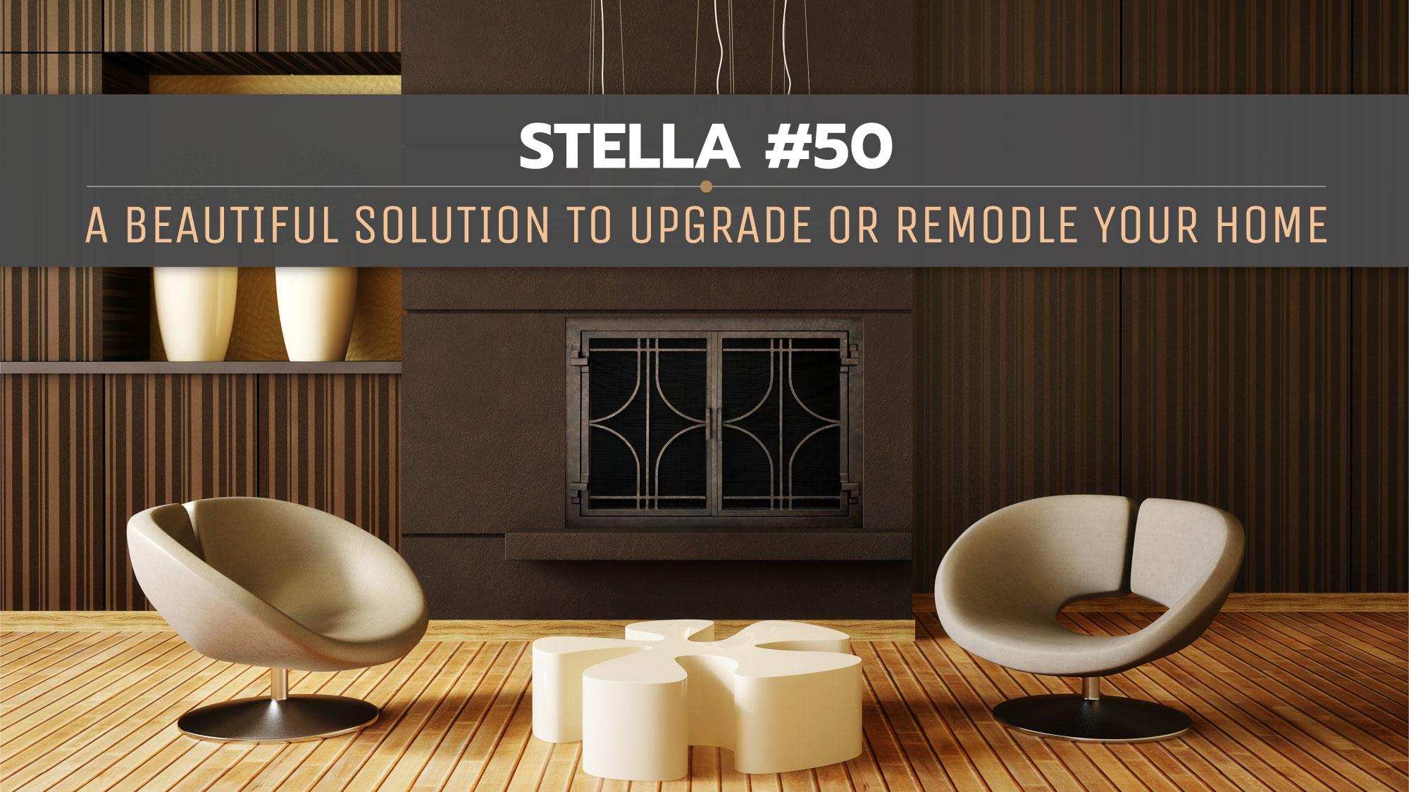 Stella Iron Fireplace Door Style 50