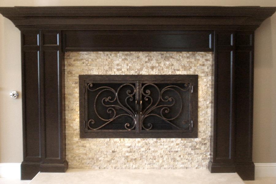 Azalea 6 Fireplace Door
