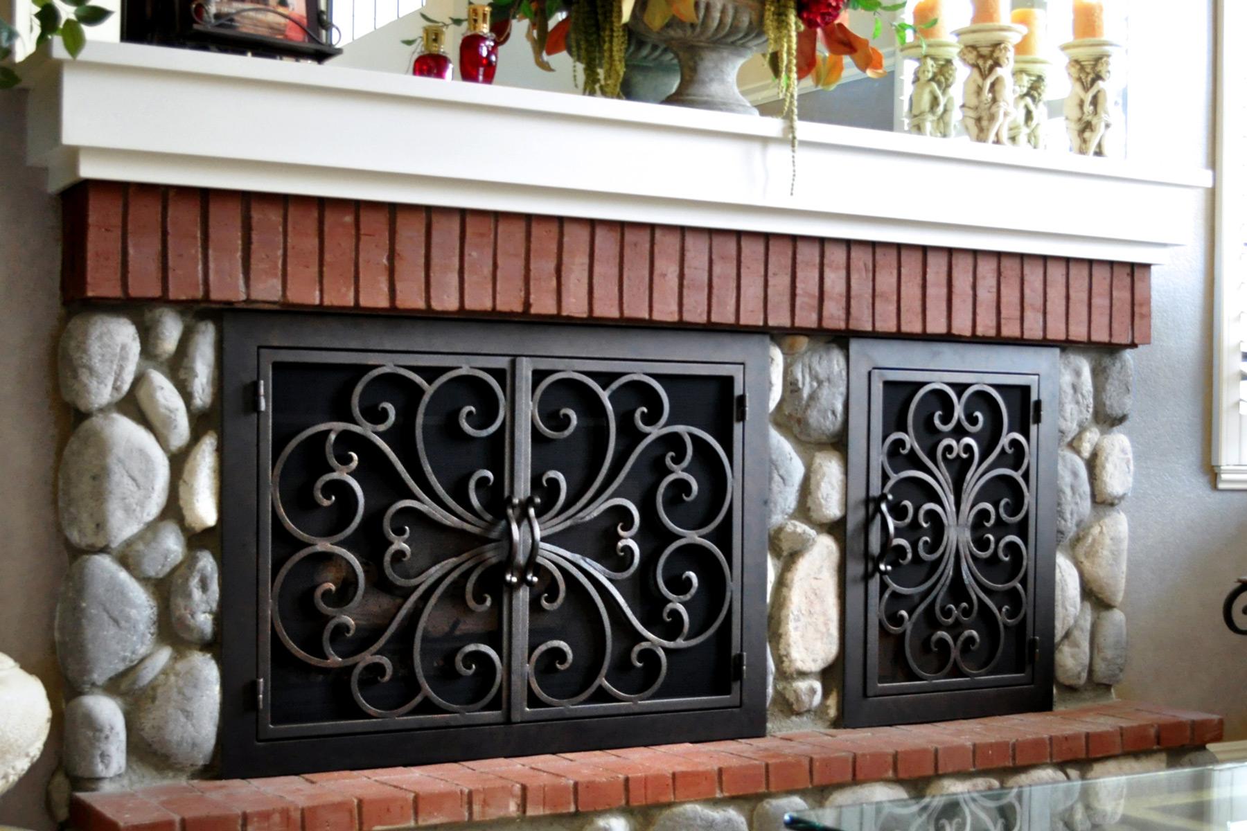 Amy Two Door Fireplace Door