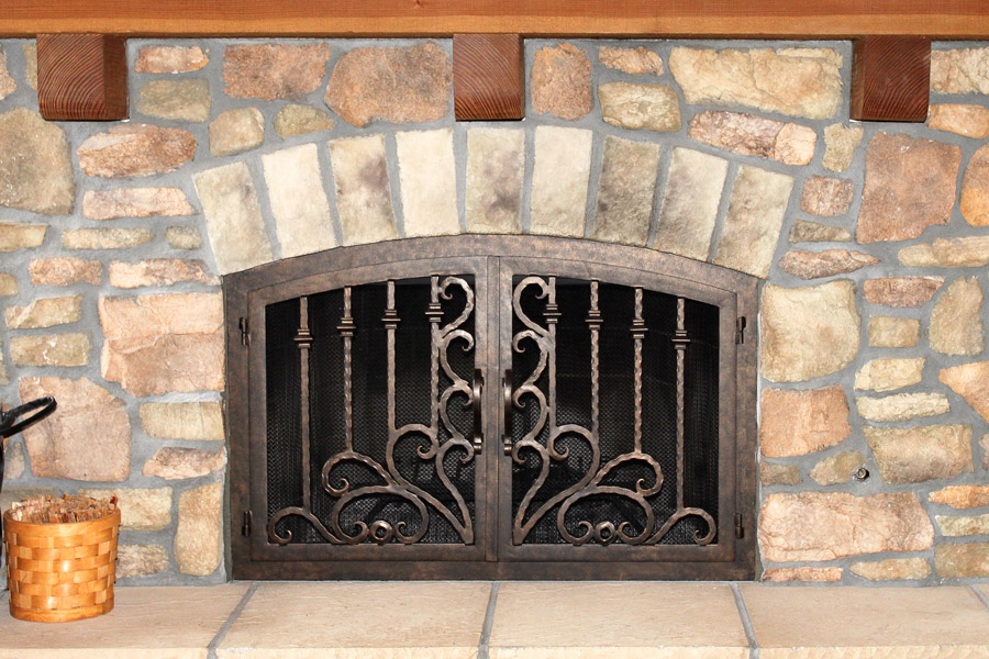 Arcadia 10 Arched Fireplace Door