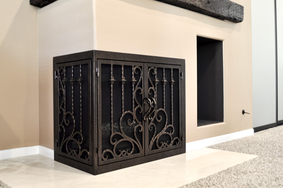 Arcadia 10 L Shape Fireplace Doors