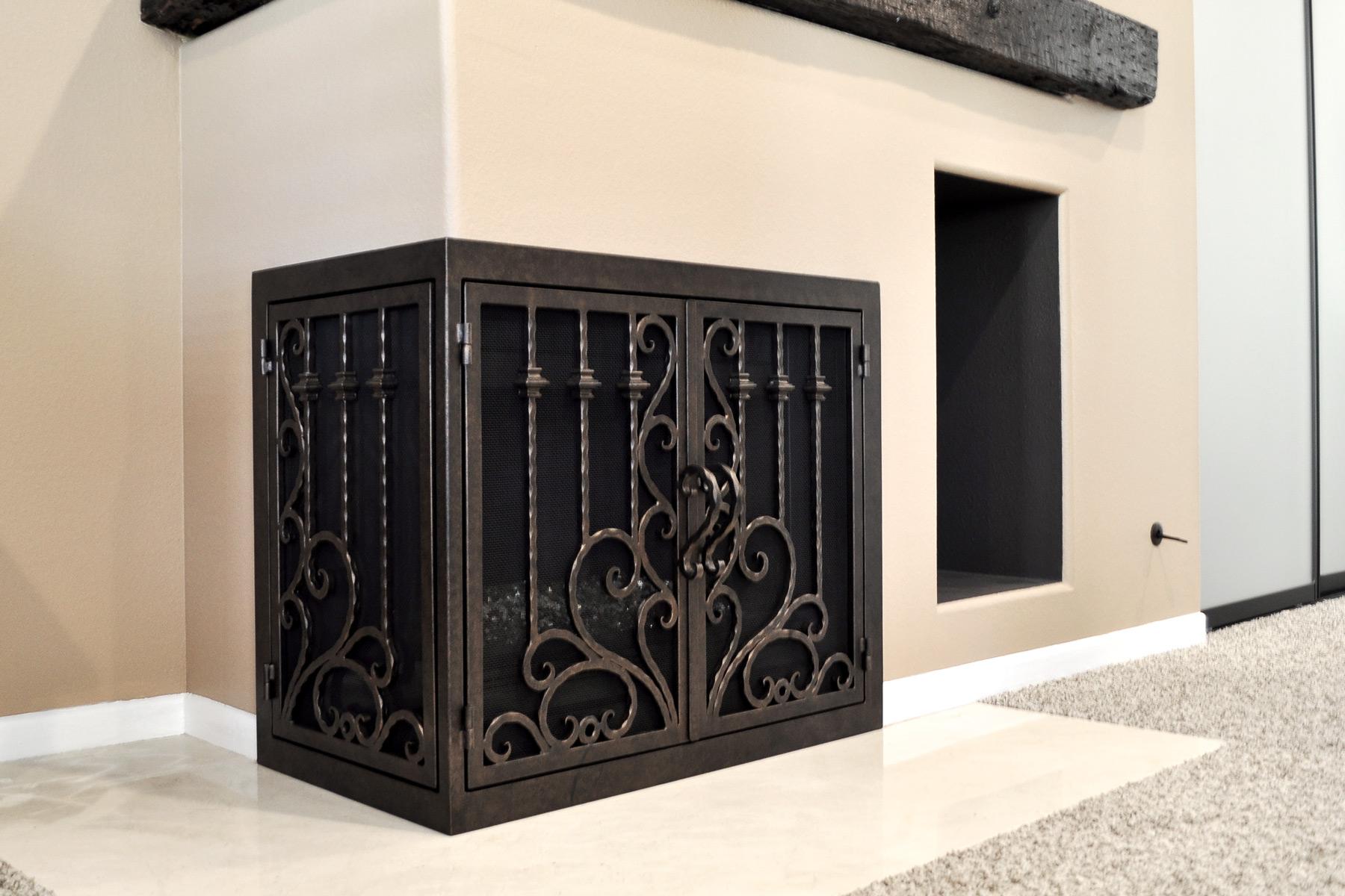Arcadia 10 L Shape Fireplace Door