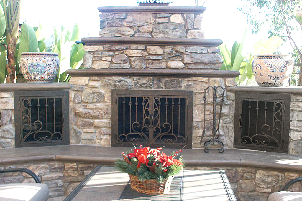 Arcadia Outside Fireplace Door