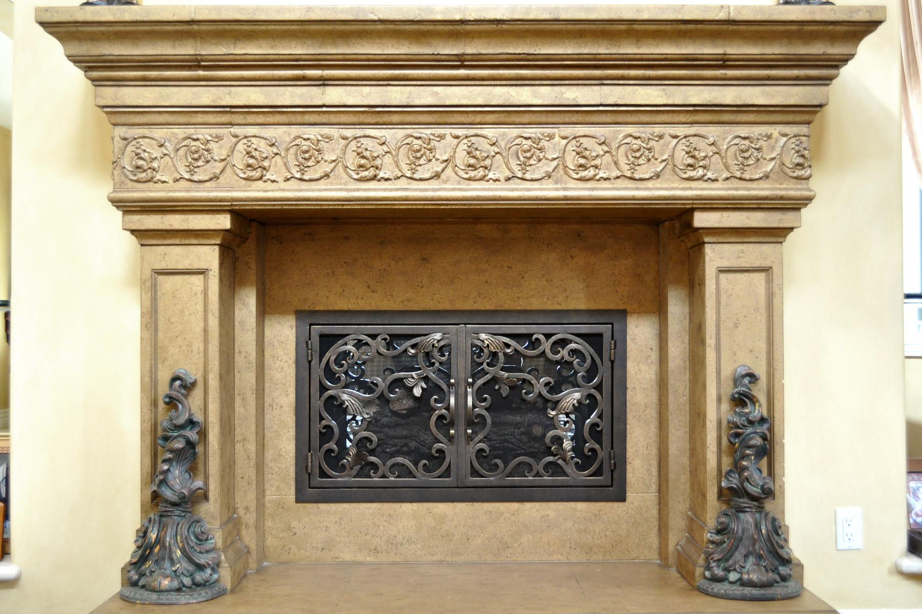 Athens Fireplace Door