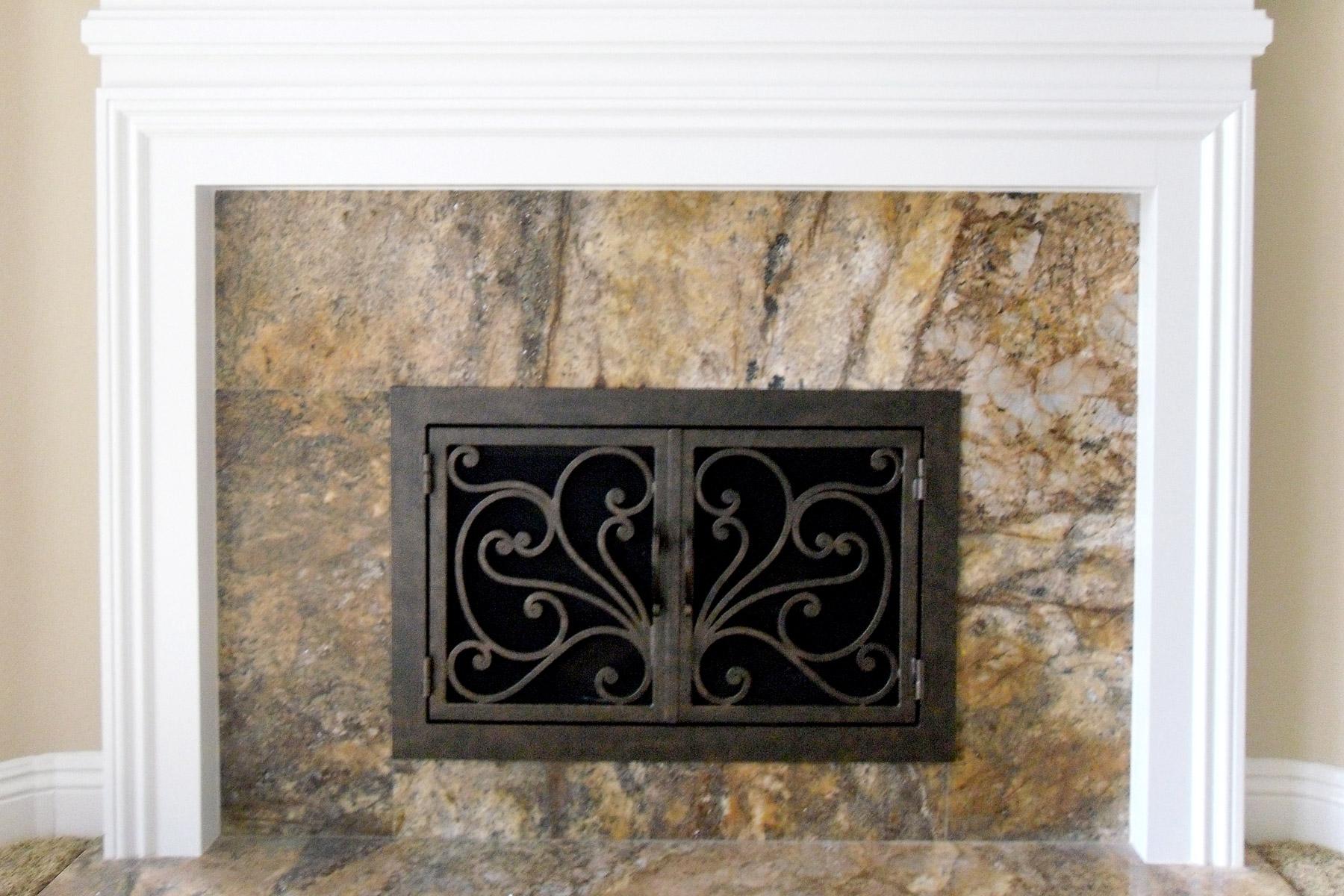 Azalea 6 Fireplace Doors