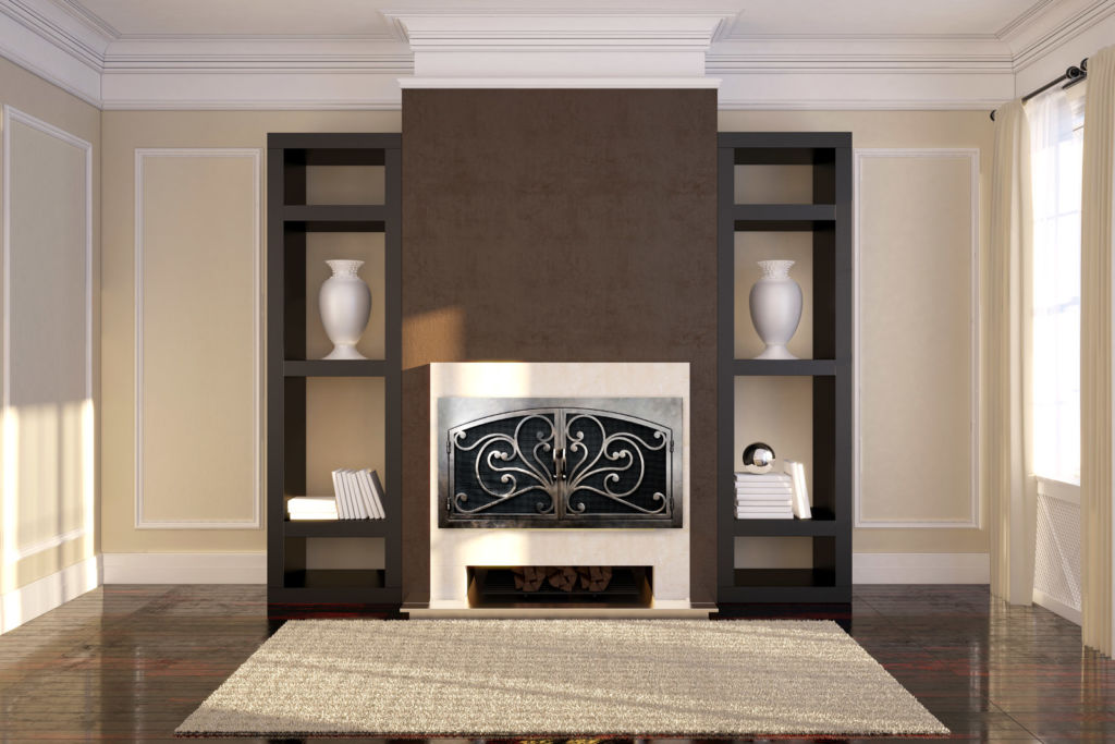 Azalea 6 Arched Rectangular Fireplace Door AMS