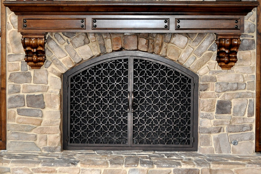 Batista 11 Arched Fireplace Door