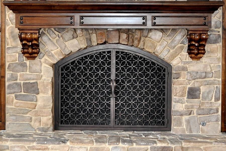 Batista 11 Arched Fireplace Door