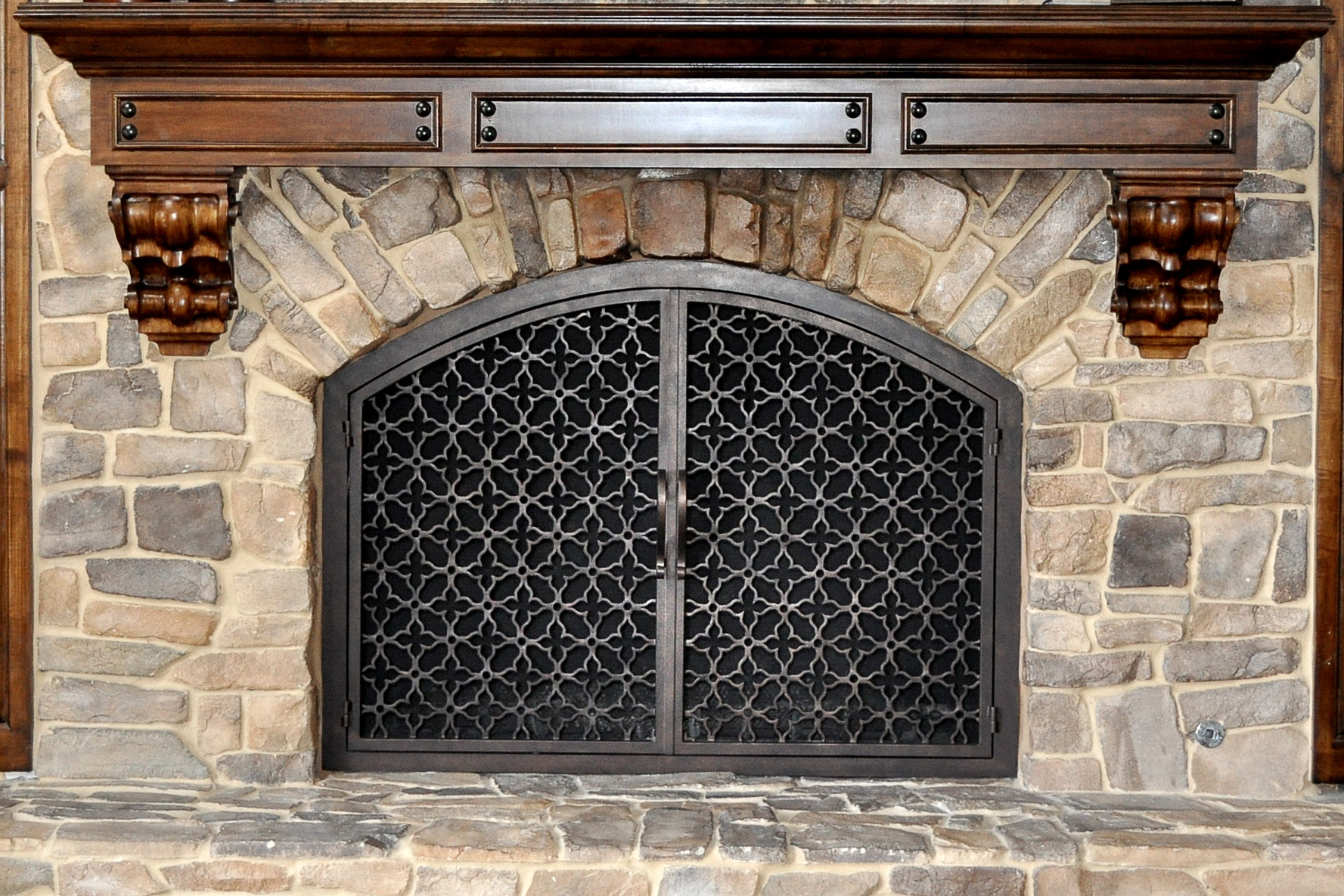 Batista 11 Arch Fireplace Door