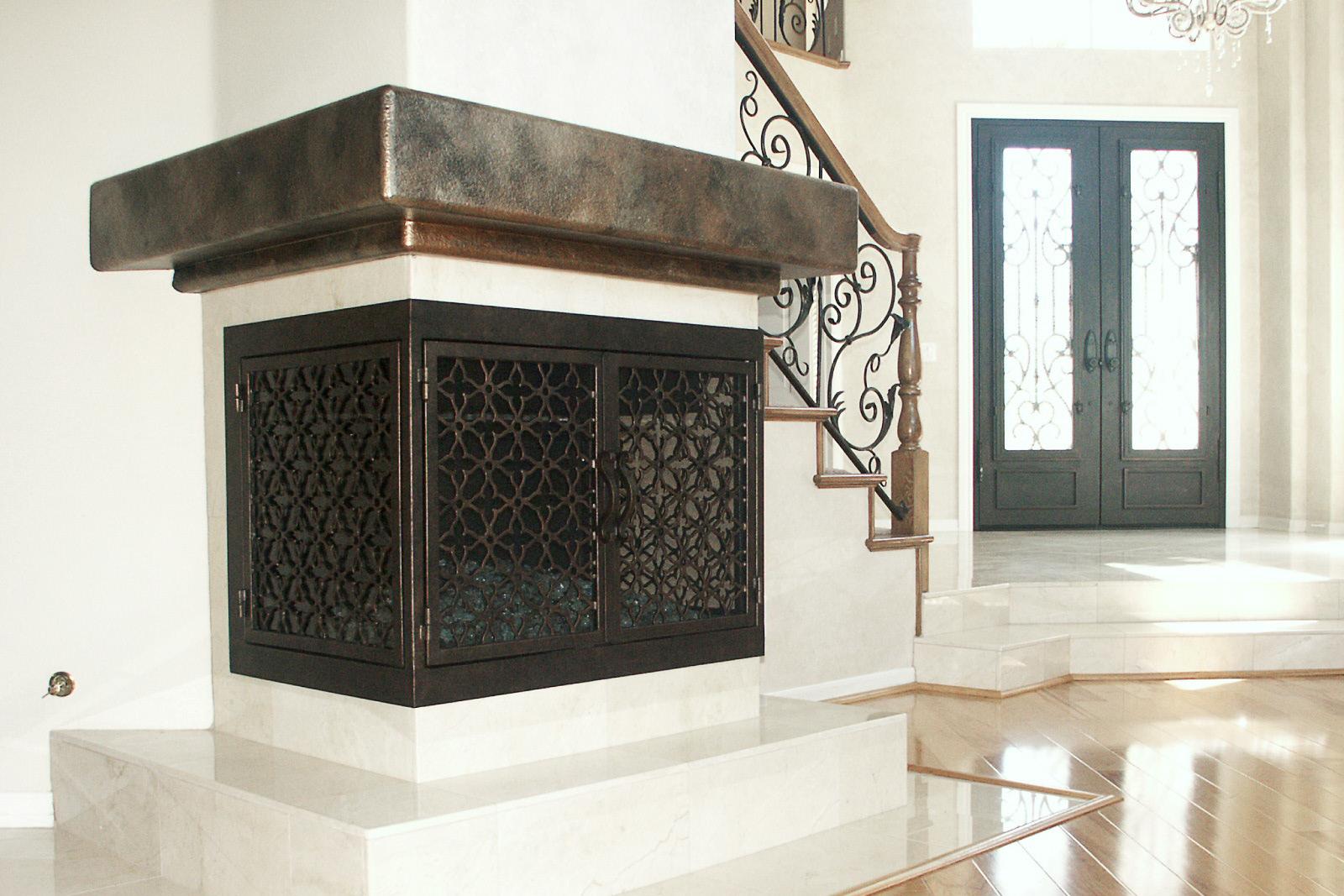 Batista 11 U Shape Fireplace Door