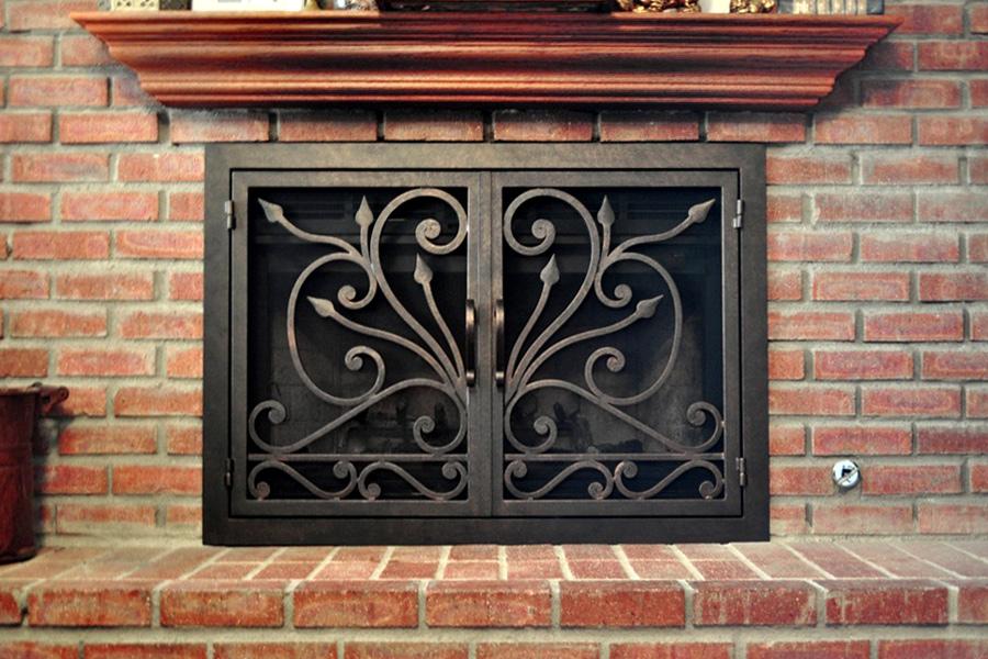big sur 5 fireplace door