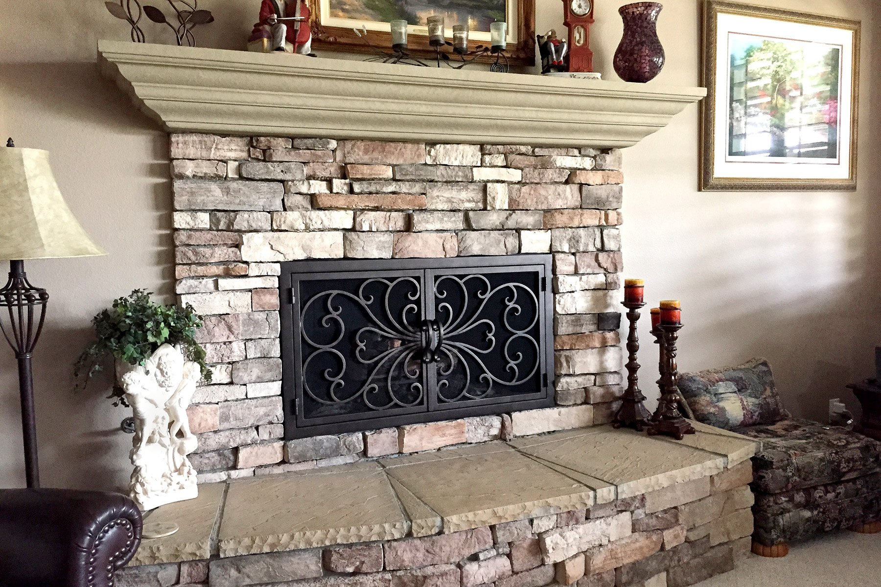 Classic 1 Rectangular Fireplace
