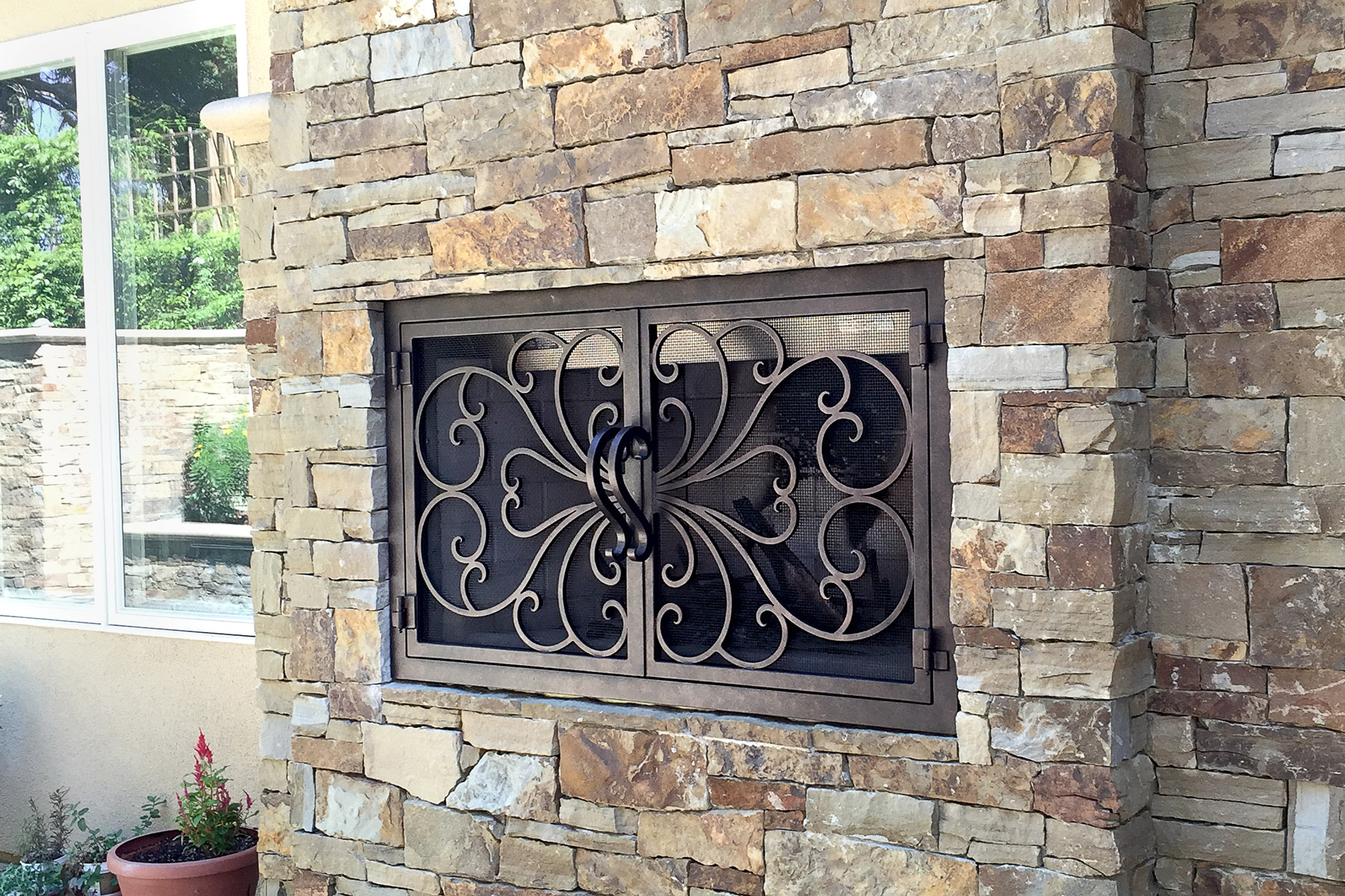 Classic Outside Fireplace Door