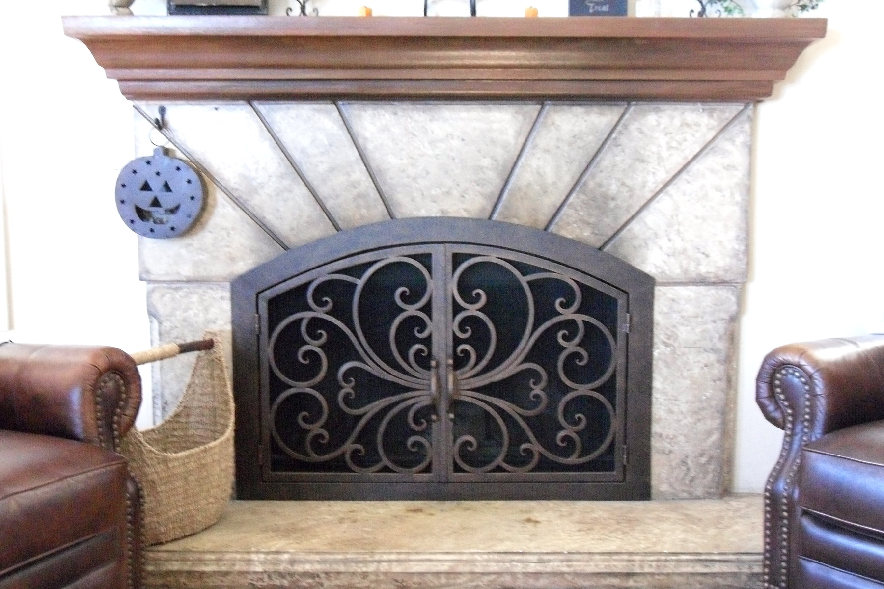 Classic 1 Arch Fireplace Door