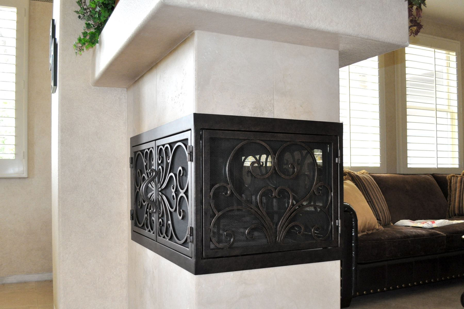 Classic 1 U Shaped Fireplace Door