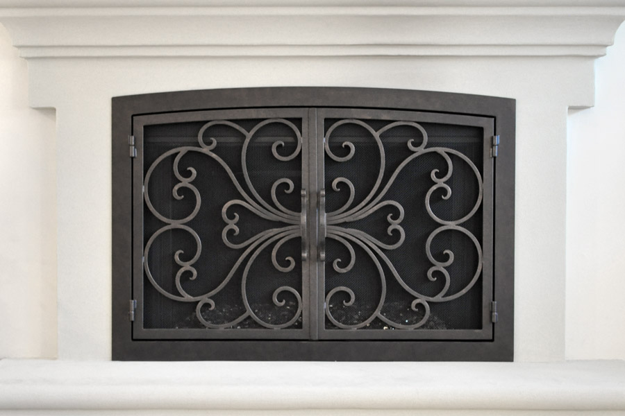 Classic Arched Fireplace Door