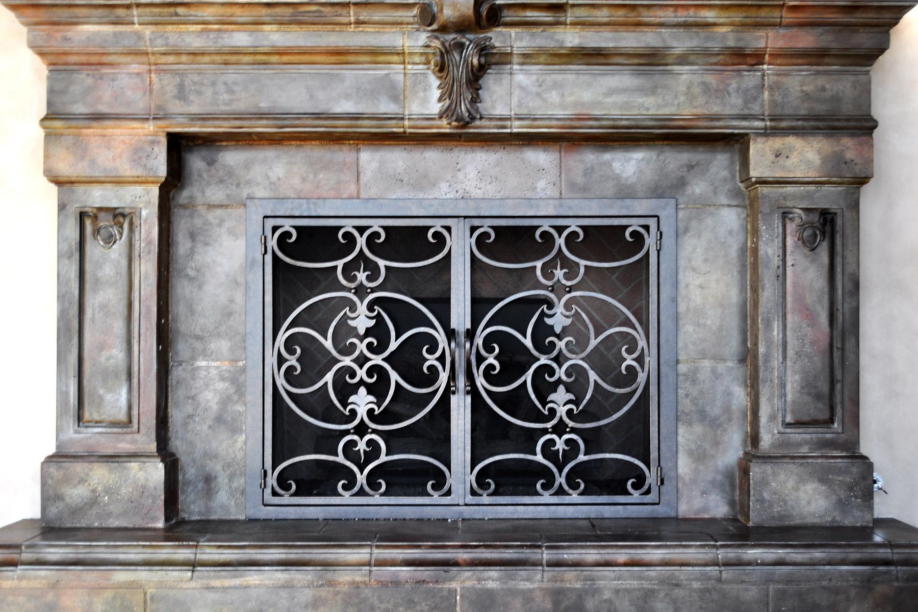 Courtyard Fireplace Door