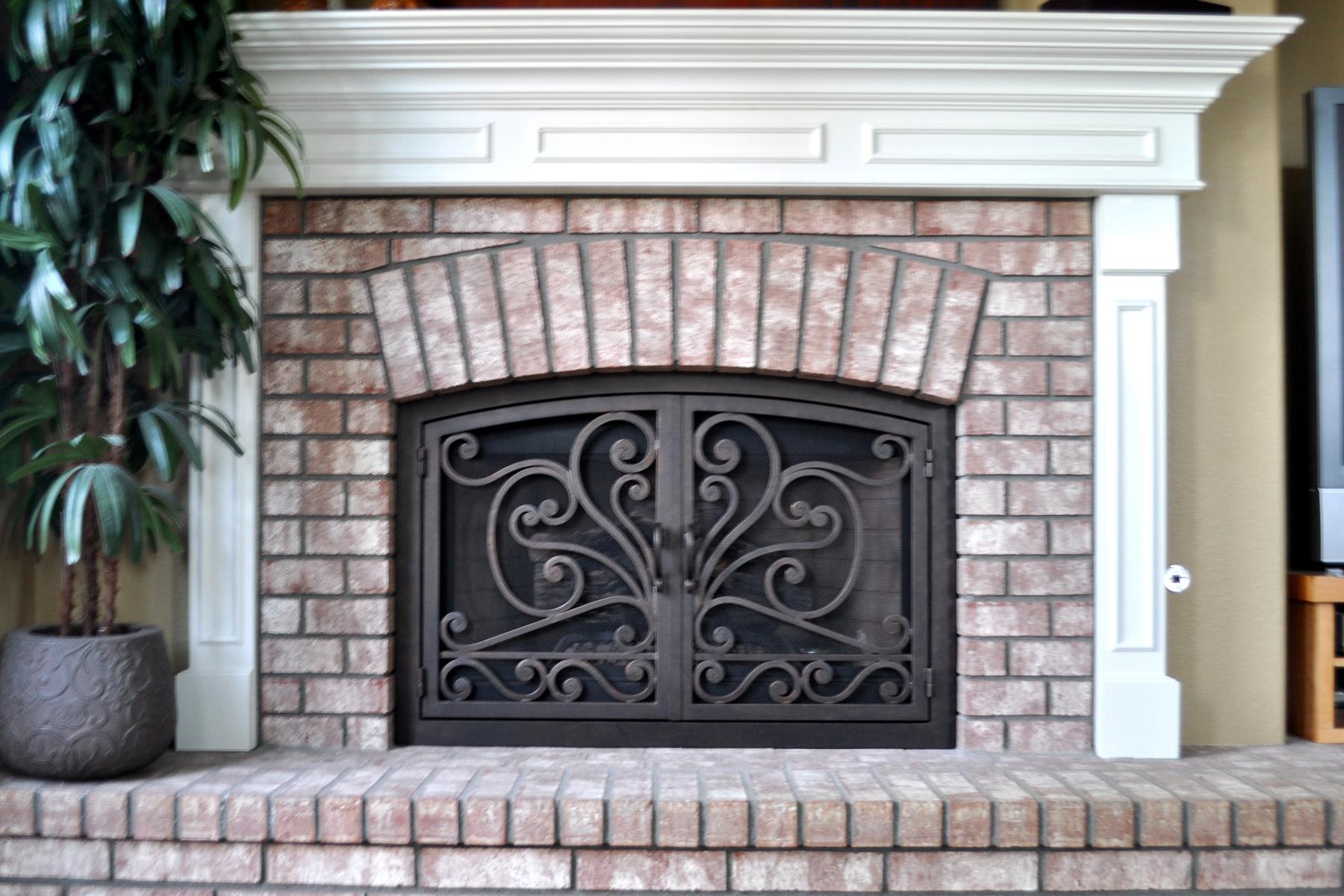 Faraday 7 Arch Fireplace Door