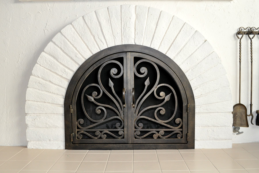 Faraday 7 Arched Fireplace Door