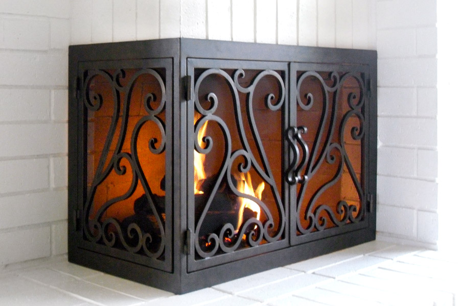 La Jolla 44 L Shape Fireplace Door