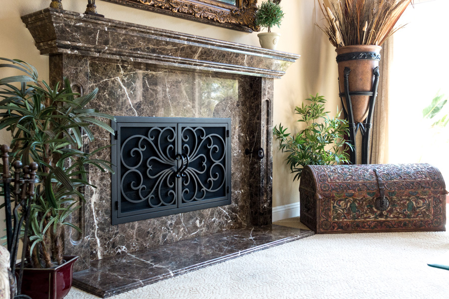 Classic 1 Rectangular Fireplace Door