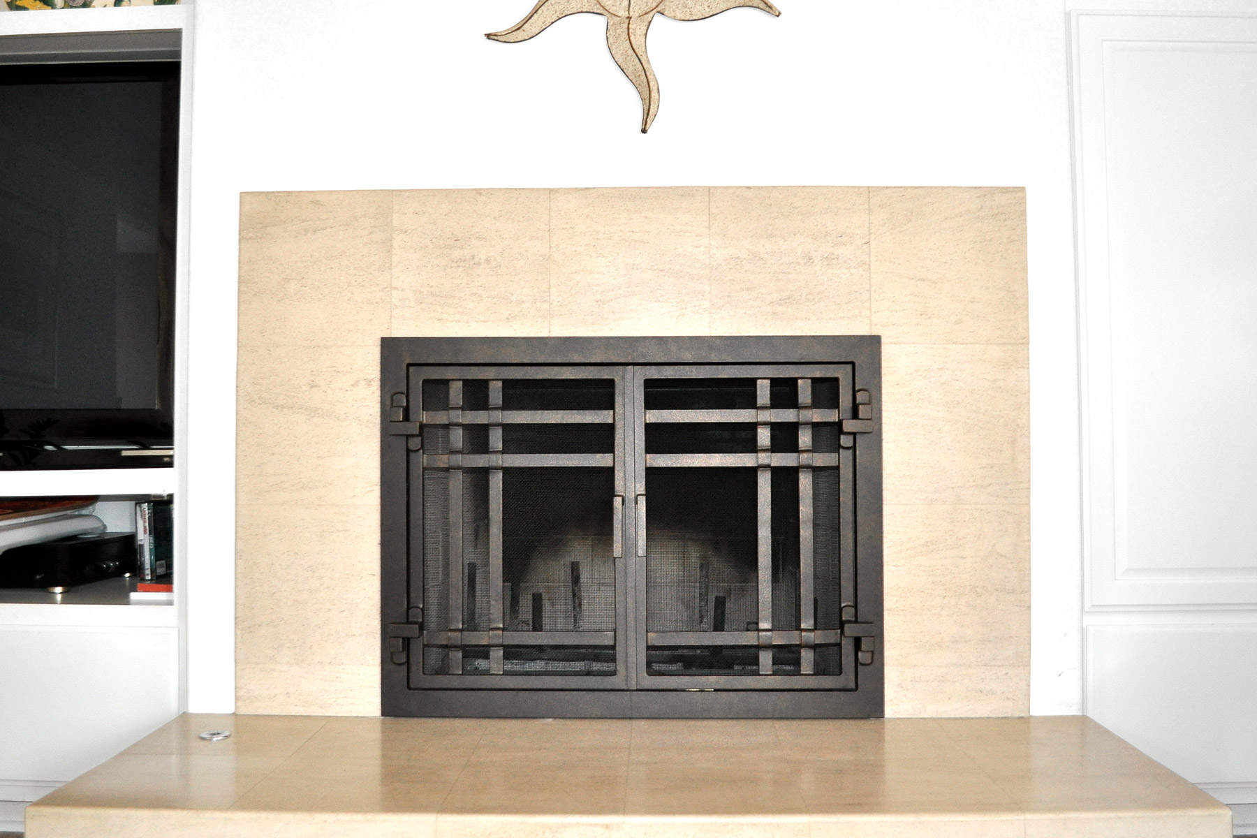 Mission 18 Fireplace Door