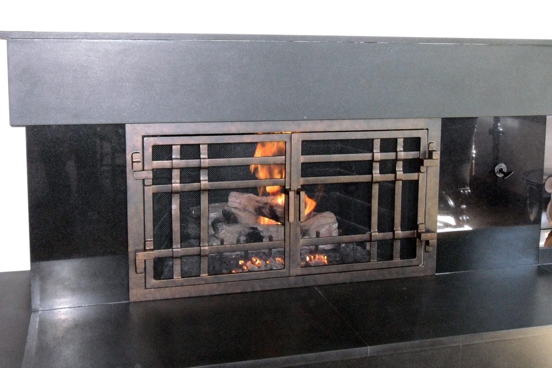 Mission 18 Fireplace Door