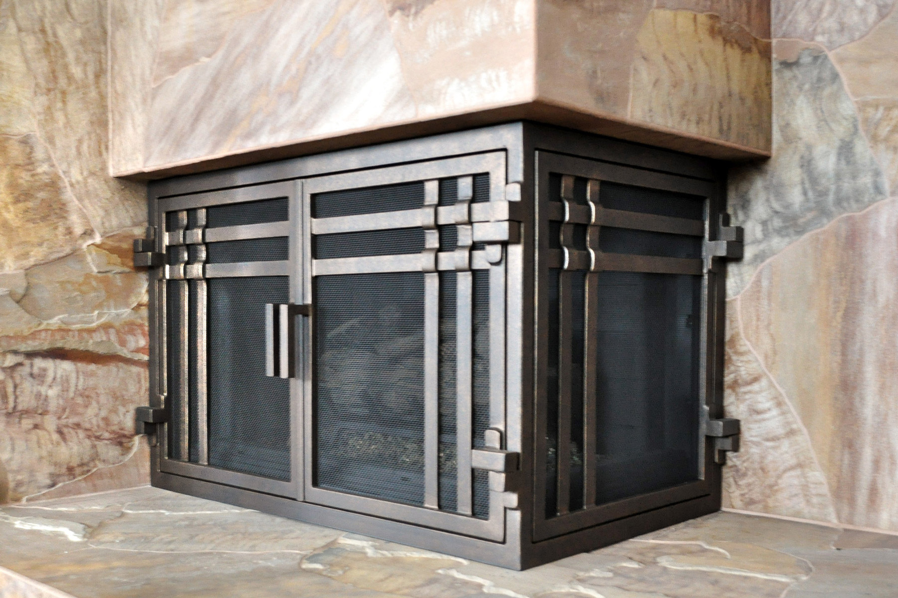 Mission 18 L Shape Fireplace Door