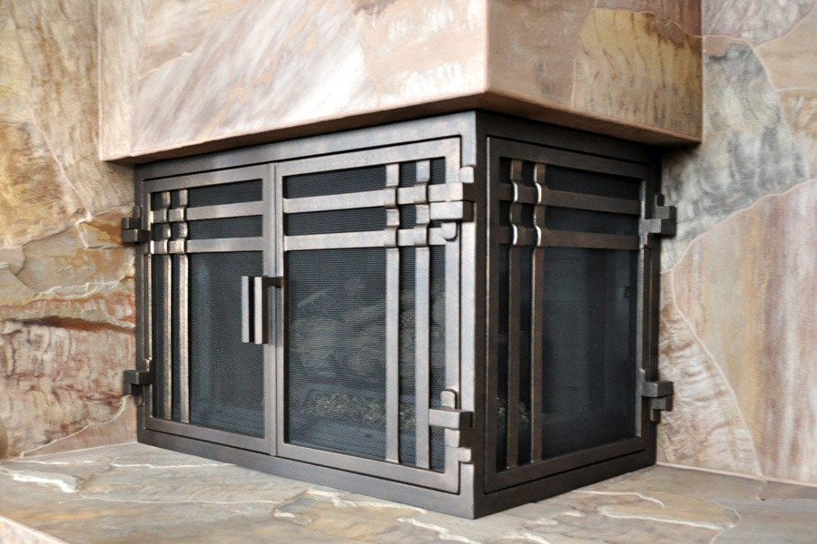 Santa Cruz 55 L Shape Fireplace Door