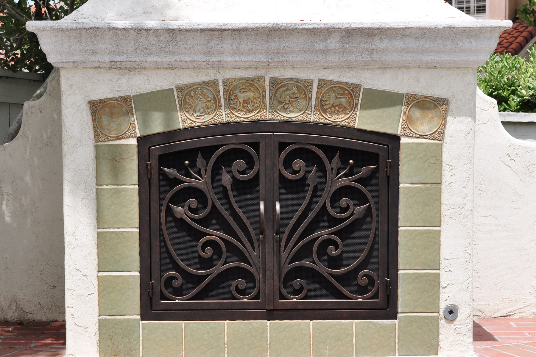 Orchid 4 Arch Fireplace Doors