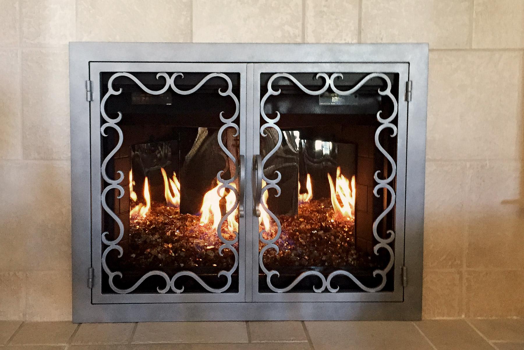 Reef 35 Fireplace Door Flame