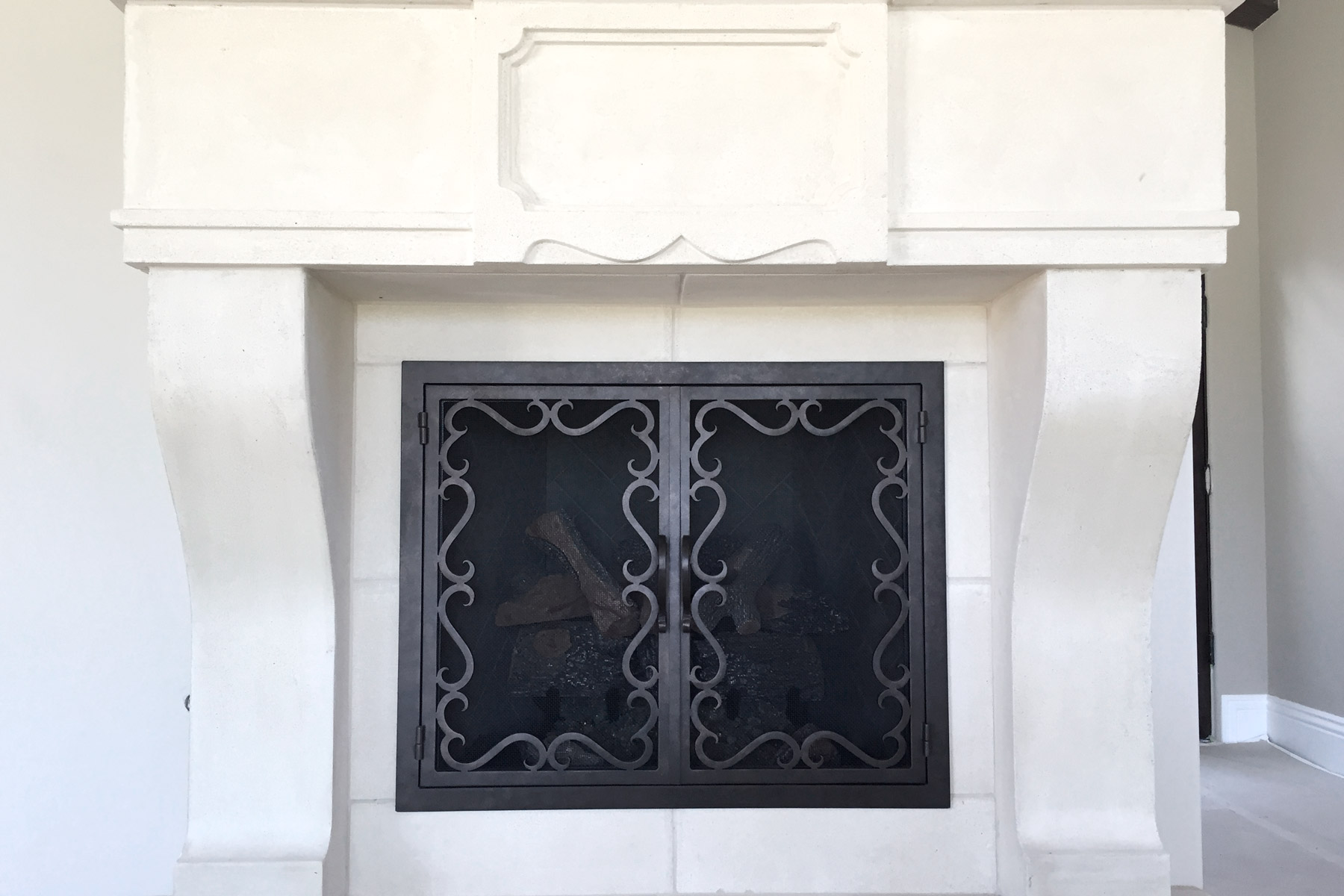 Reef Fireplace Door