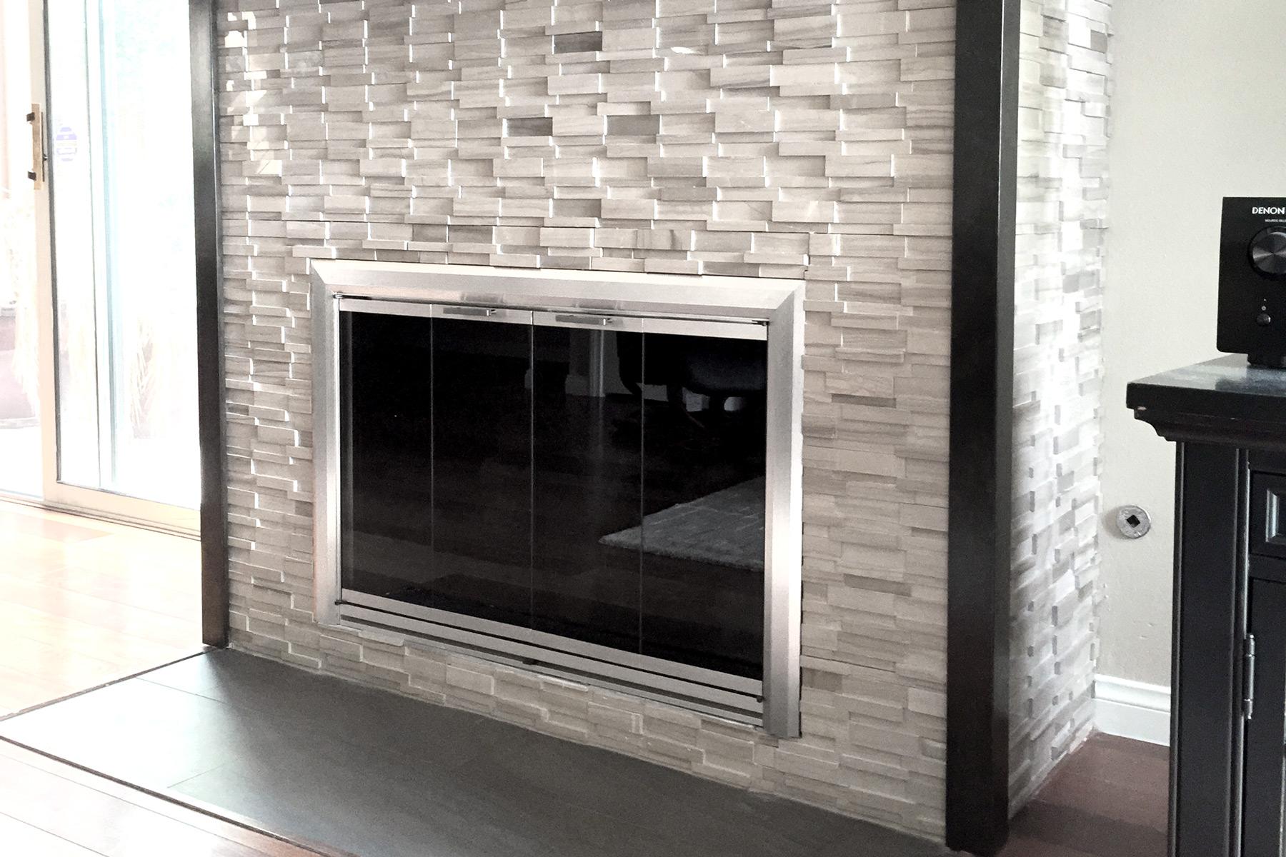 Reflection 28 Fireplace Door