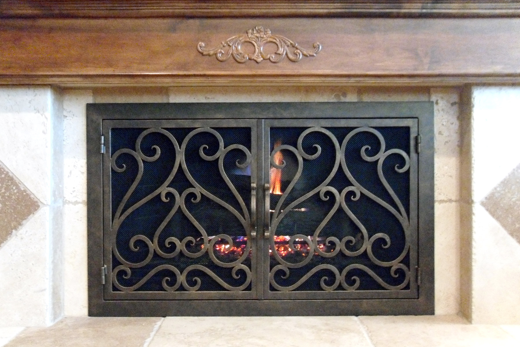 Sequoia 3 Fireplace Door