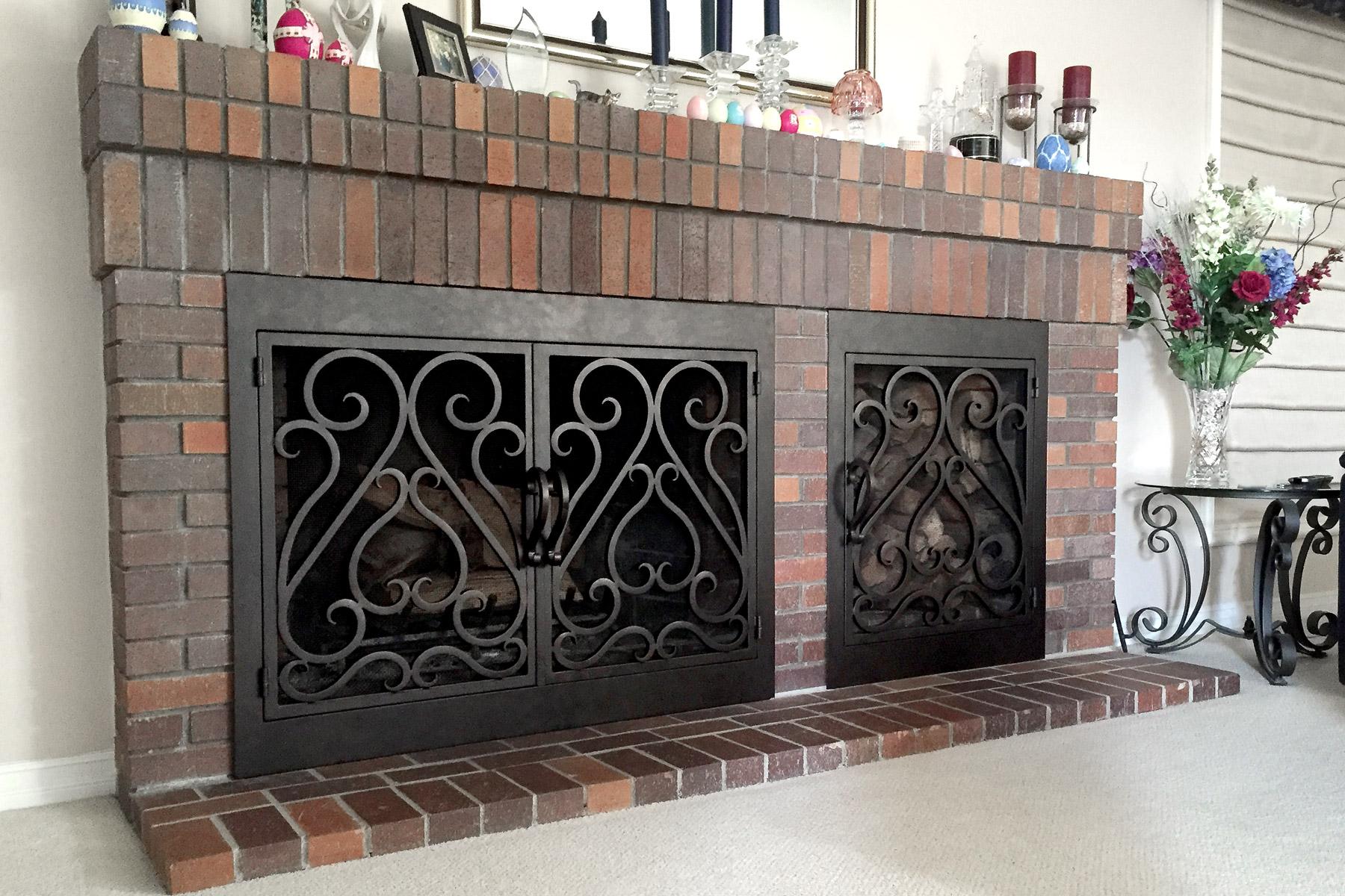 custom size fireplace doors dsc00034 las vegas fireplace doors