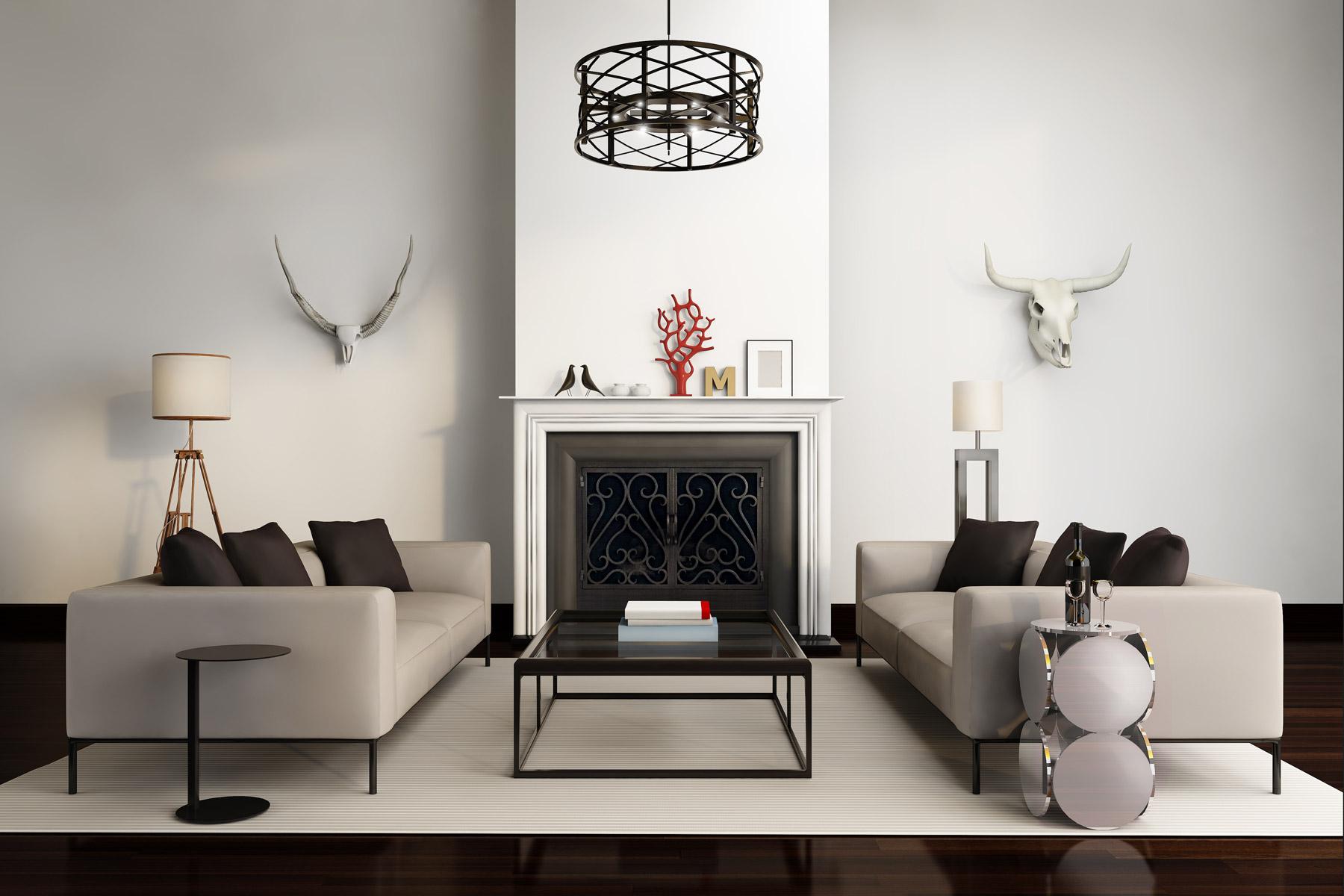 Sequoia 3 Fireplace Door Modern