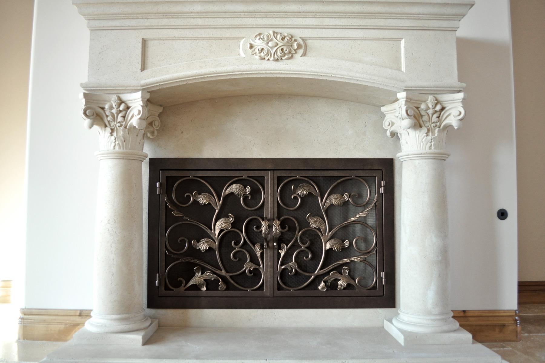 Sycamore Fireplace Door