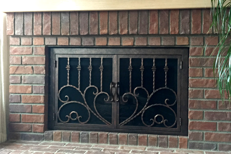 The Clad 34 Fireplace Door