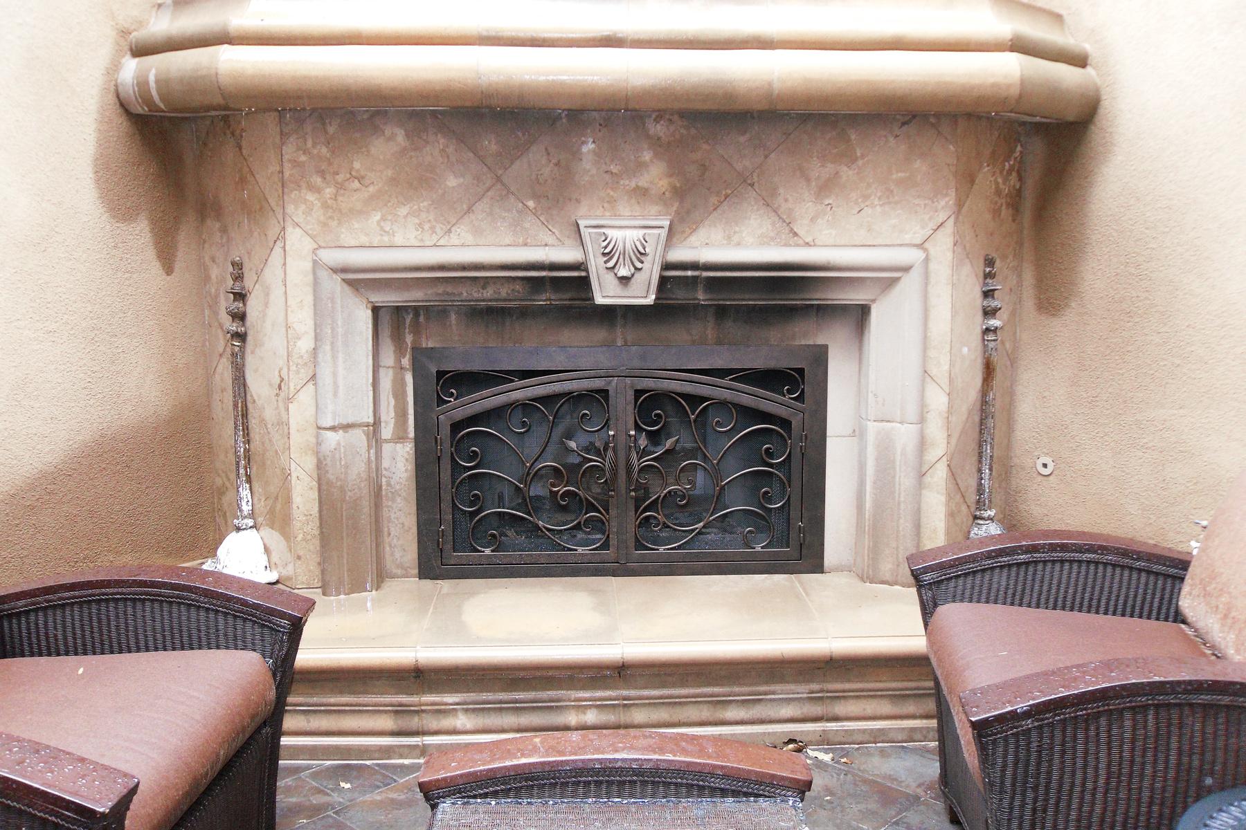 Vineyard Outside Fireplace Door