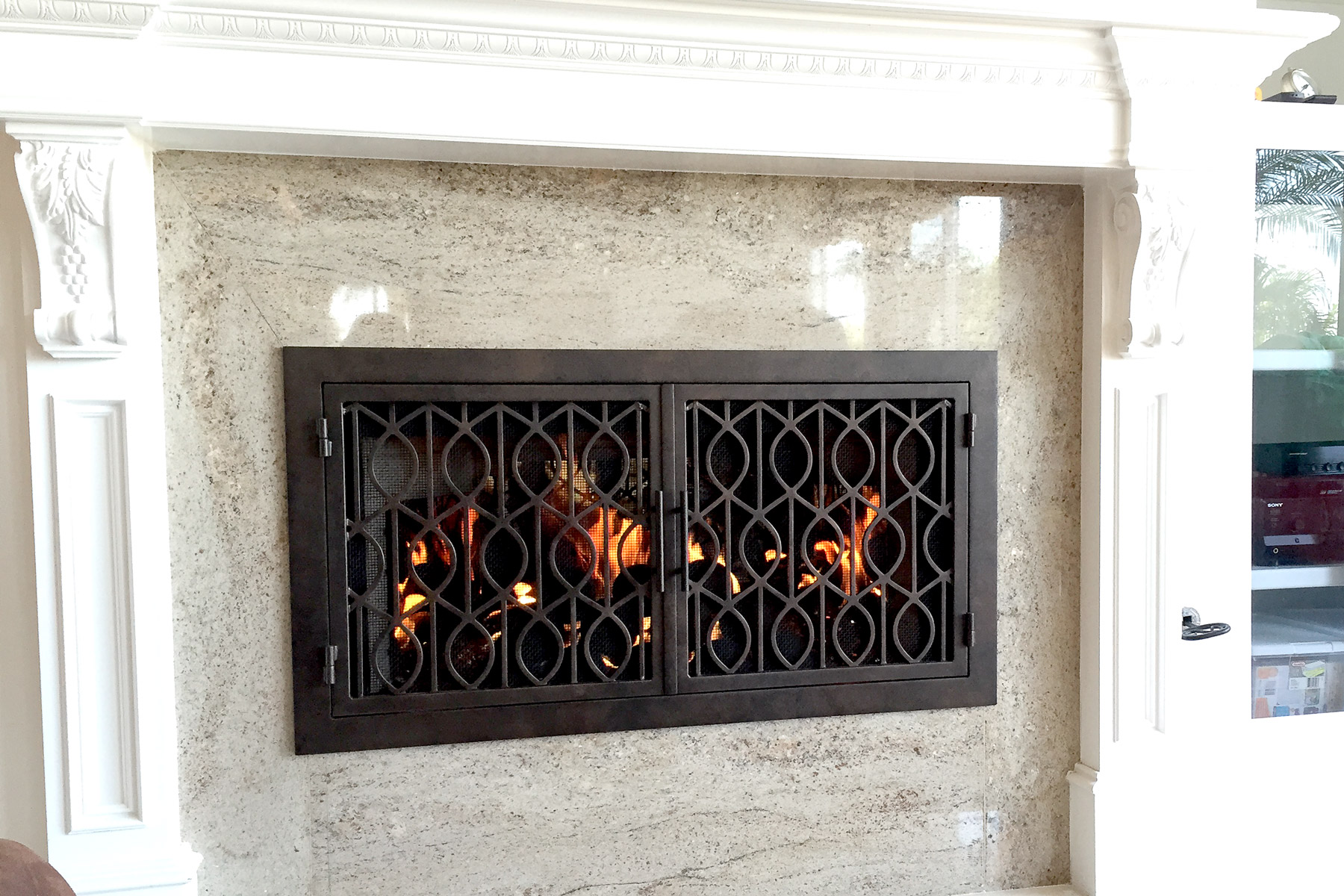 Wave 20 Fireplace Doors