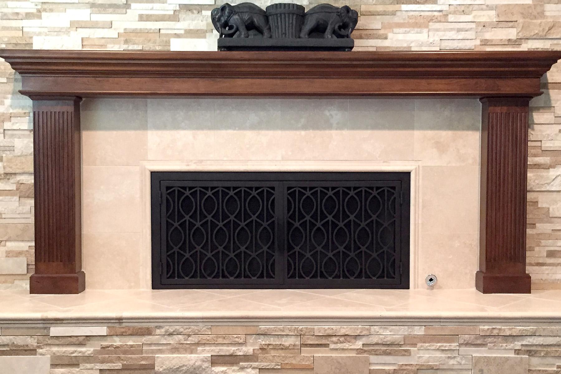 Wave 20 Fireplace Doors
