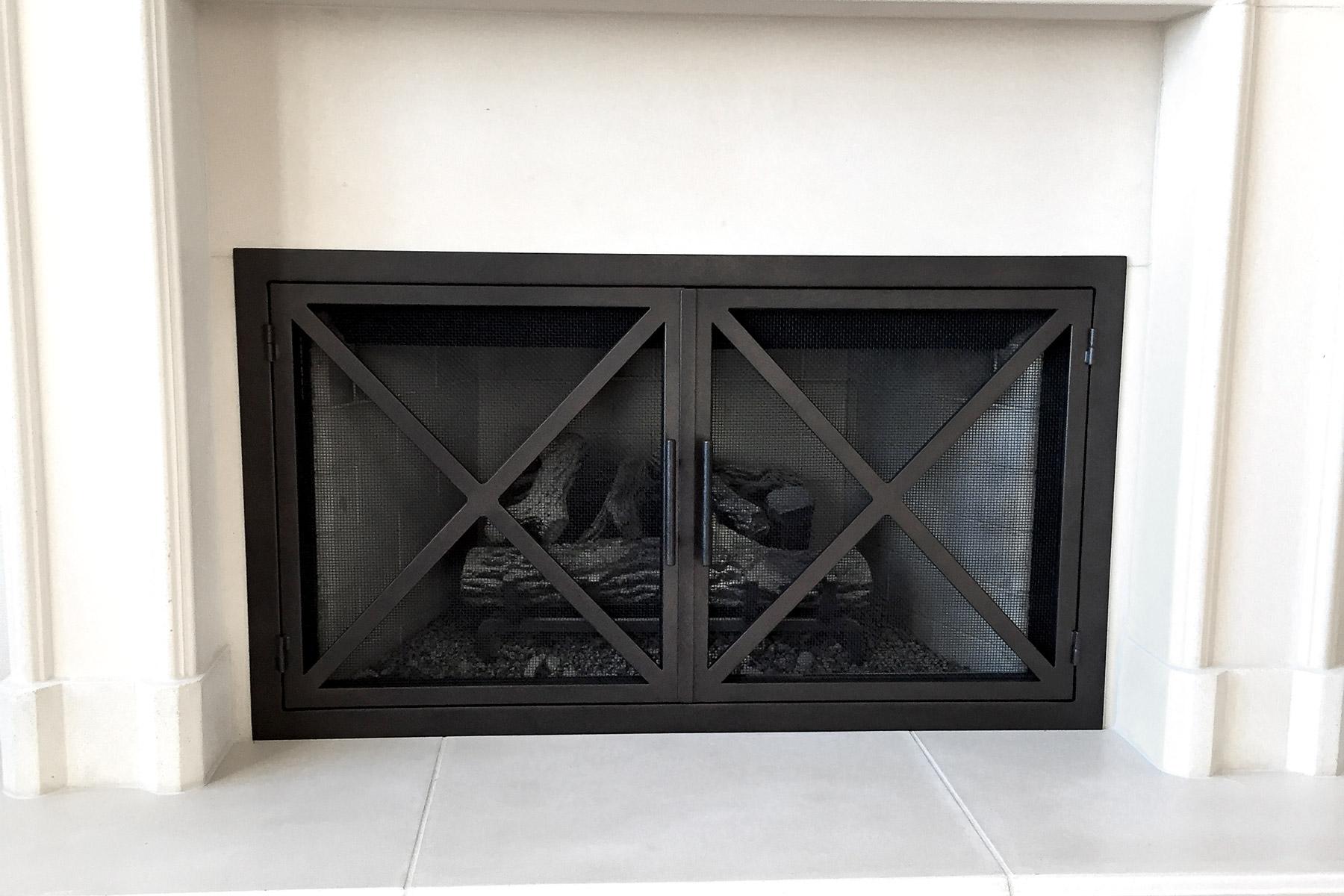 Banksy 40 Fireplace Door