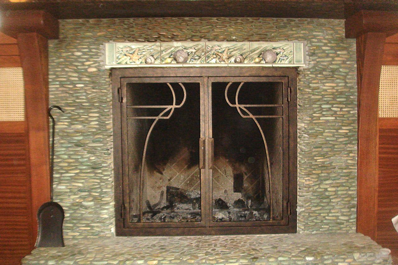 Mavericks 46 Rectangular Fireplace Door