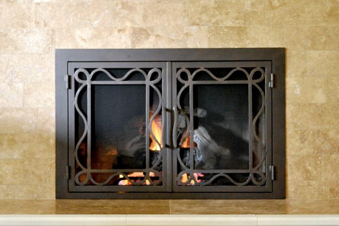 Oceanside 48 Fireplace Door