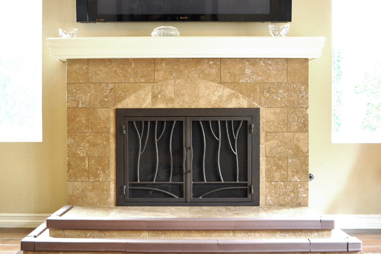 Redwood 47 Fireplace Doors