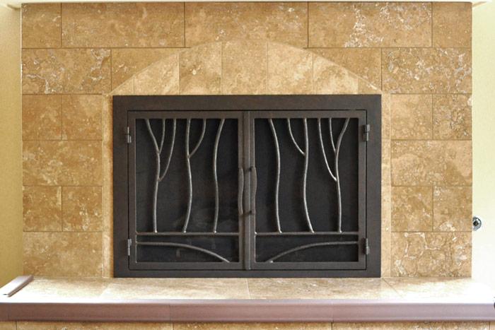 Redwood 47 Fireplace Door