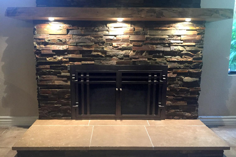 Santa Cruz 55 Fireplace Door AMS