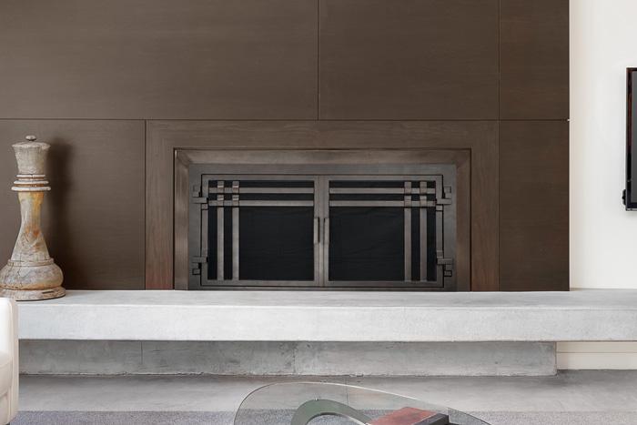 Santa Cruze Fireplace Door AMS